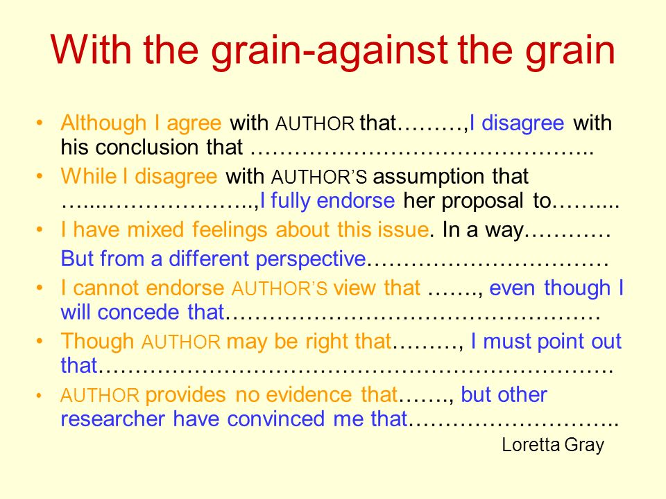 With the grain-against the grain