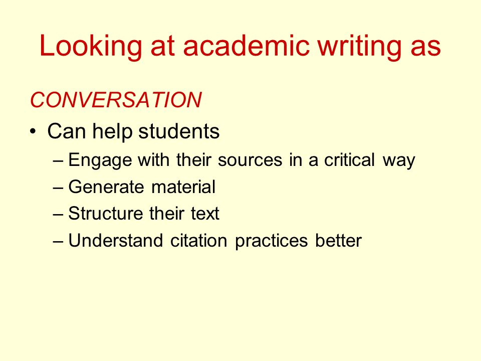 Looking at academic writing as