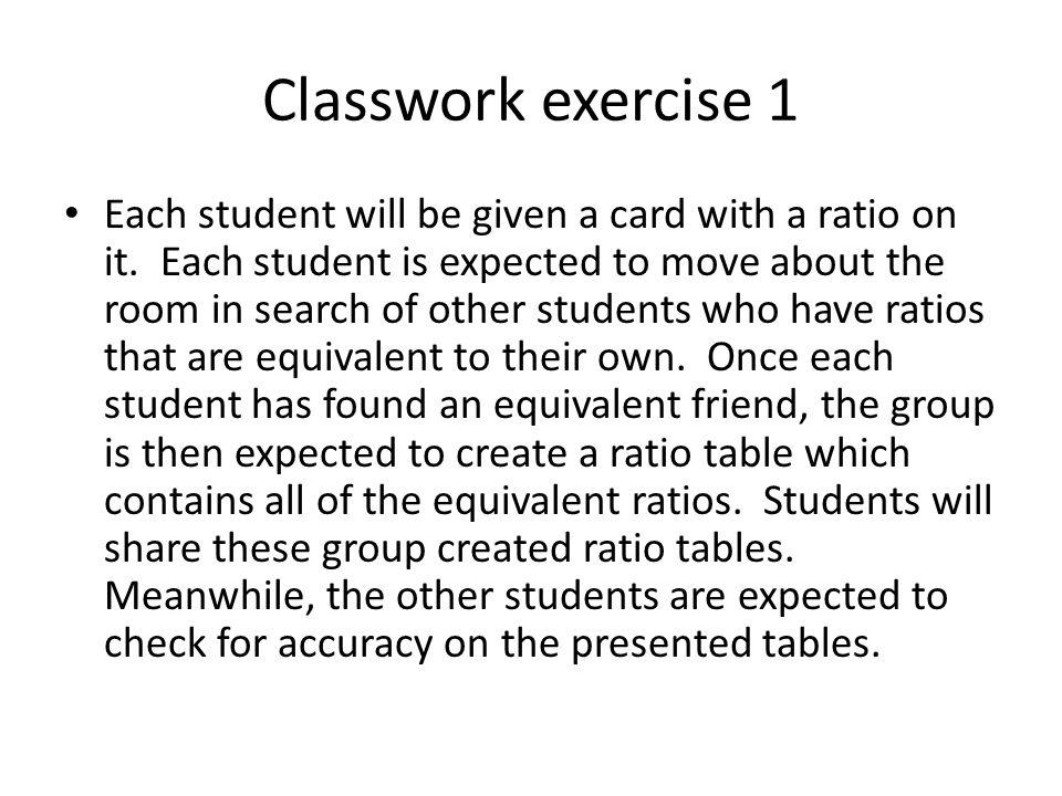 Classwork exercise 1