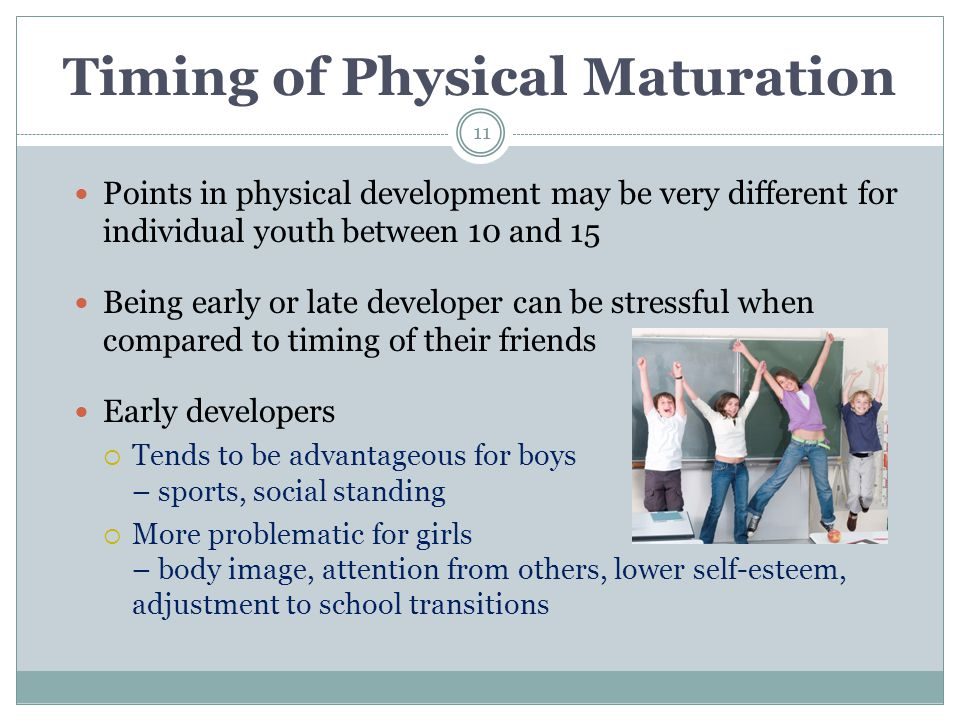 Timing of Physical Maturation