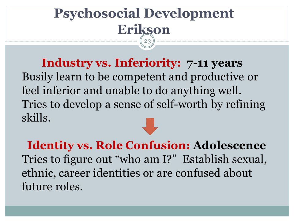 Psychosocial Development Erikson