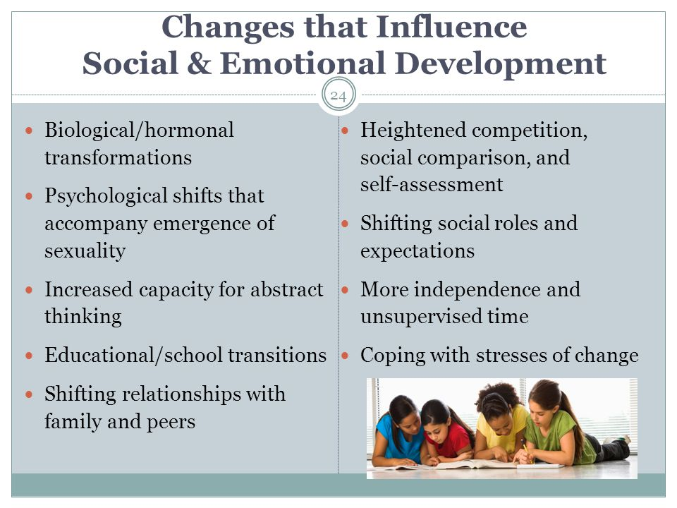 Changes that Influence Social & Emotional Development