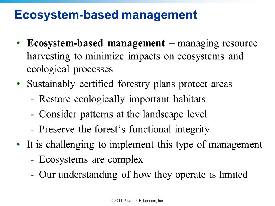 Ecosystem-based management