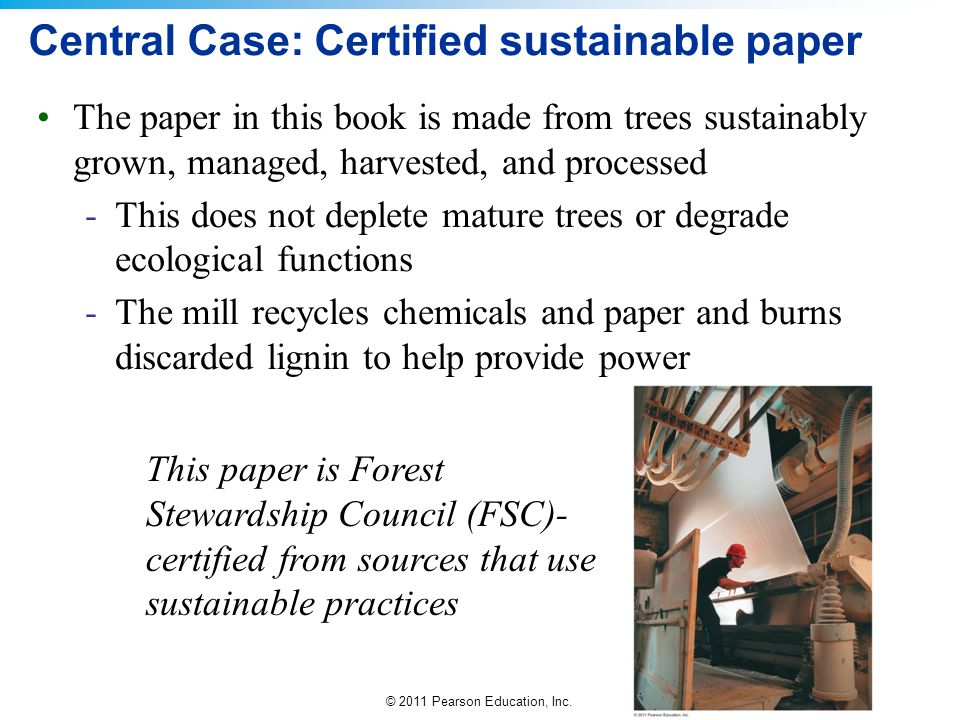 Central Case: Certified sustainable paper
