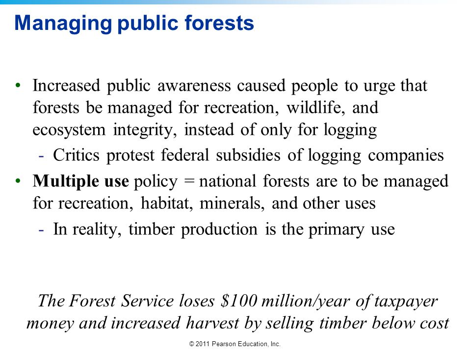 Managing public forests