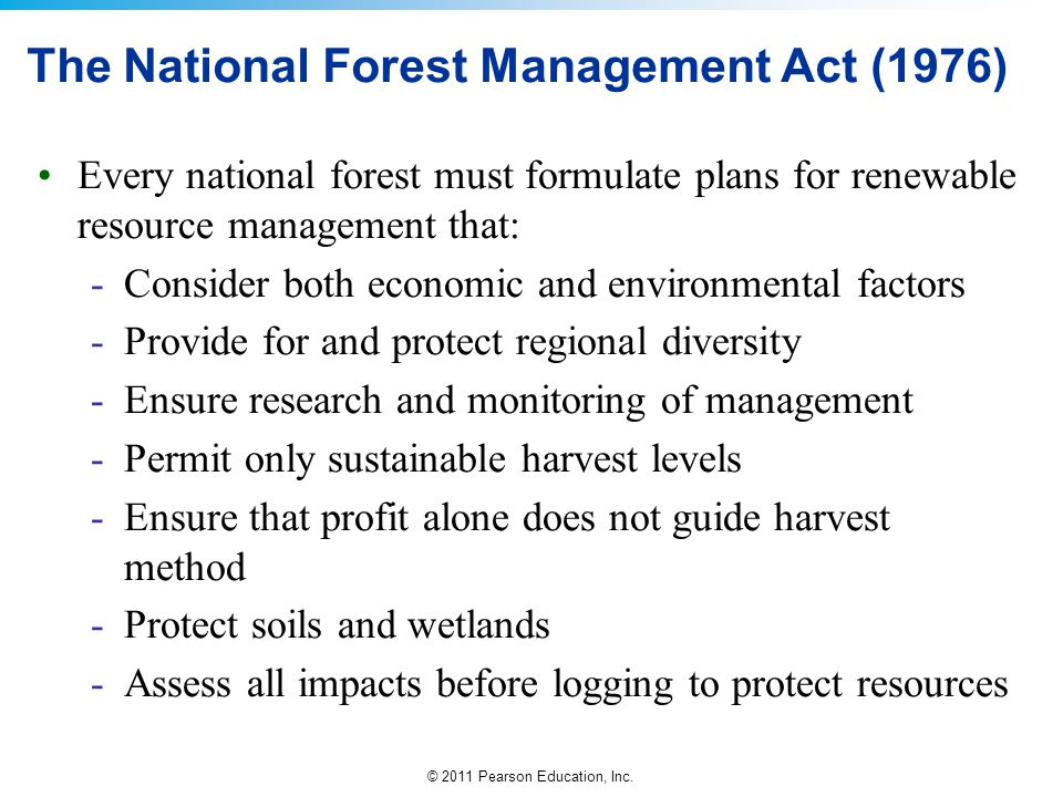 The National Forest Management Act (1976)