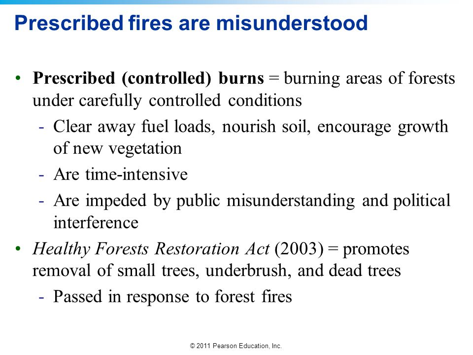 Prescribed fires are misunderstood