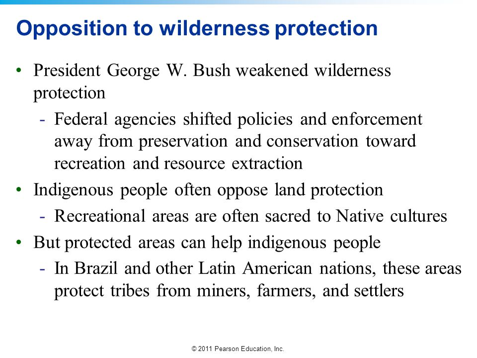 Opposition to wilderness protection
