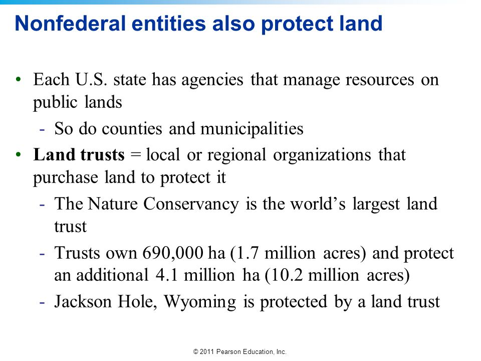 Nonfederal entities also protect land
