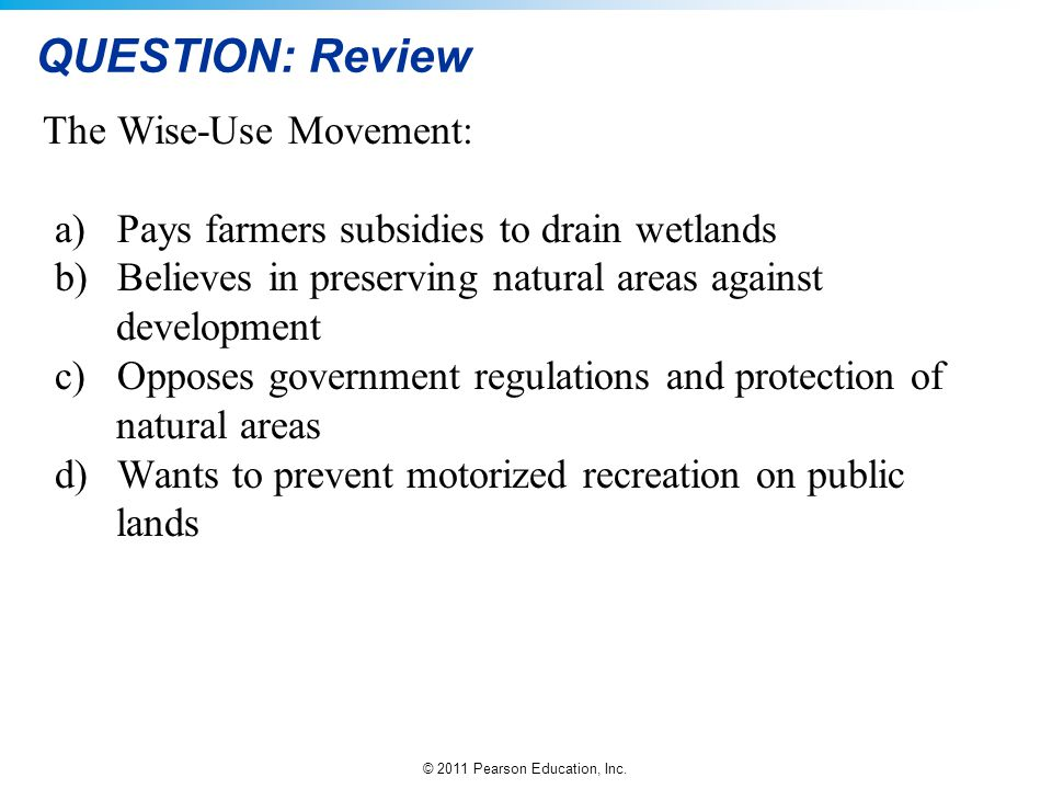 QUESTION: Review The Wise-Use Movement: