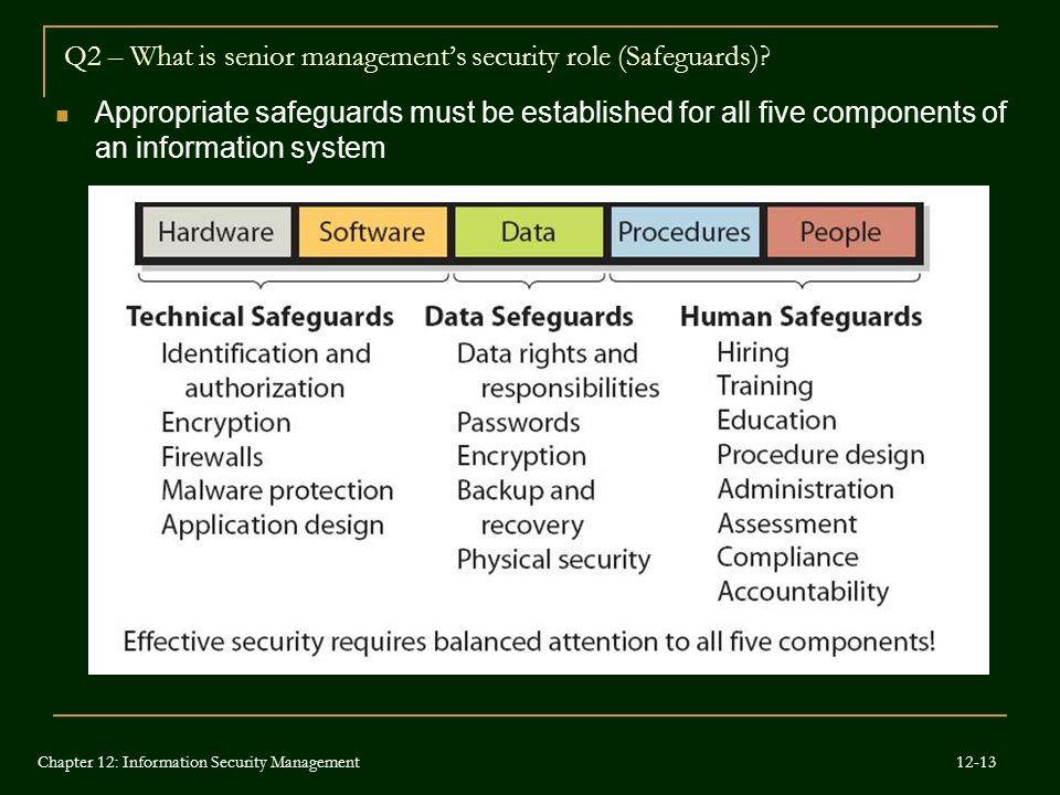 Q2 – What is senior management's security role (Safeguards)