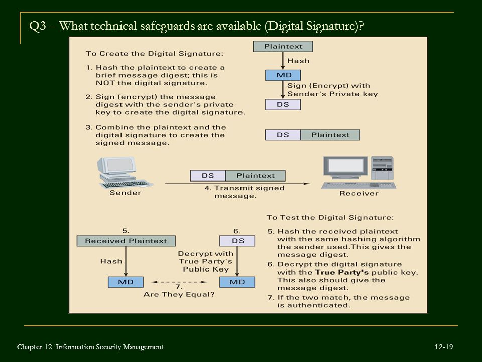 Q3 – What technical safeguards are available (Digital Signature)