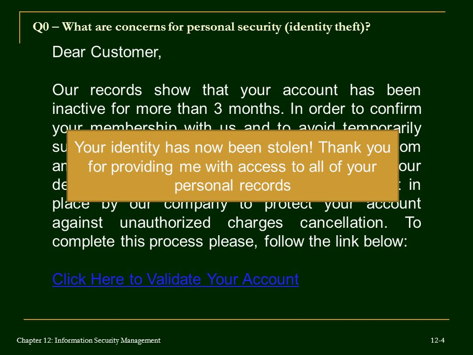 Click Here to Validate Your Account