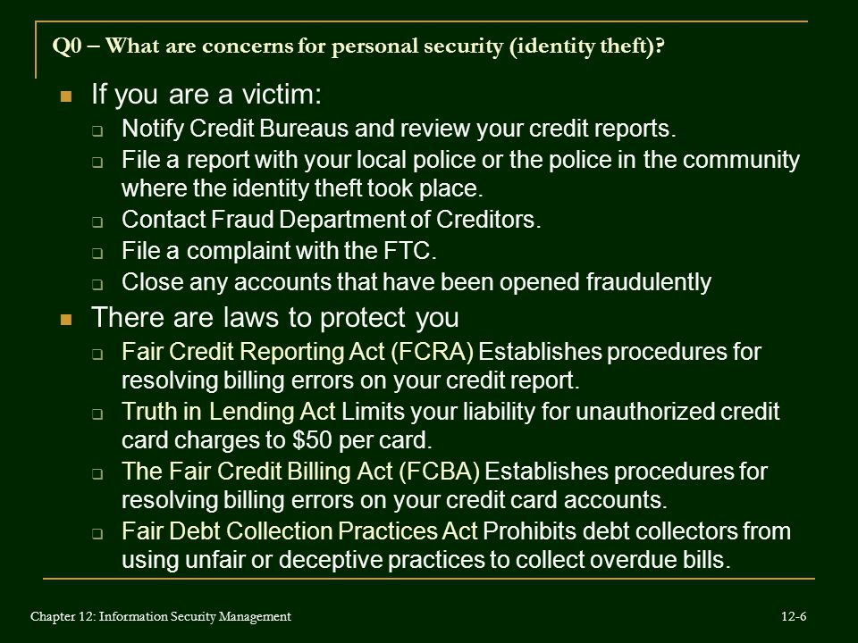 Q0 – What are concerns for personal security (identity theft)