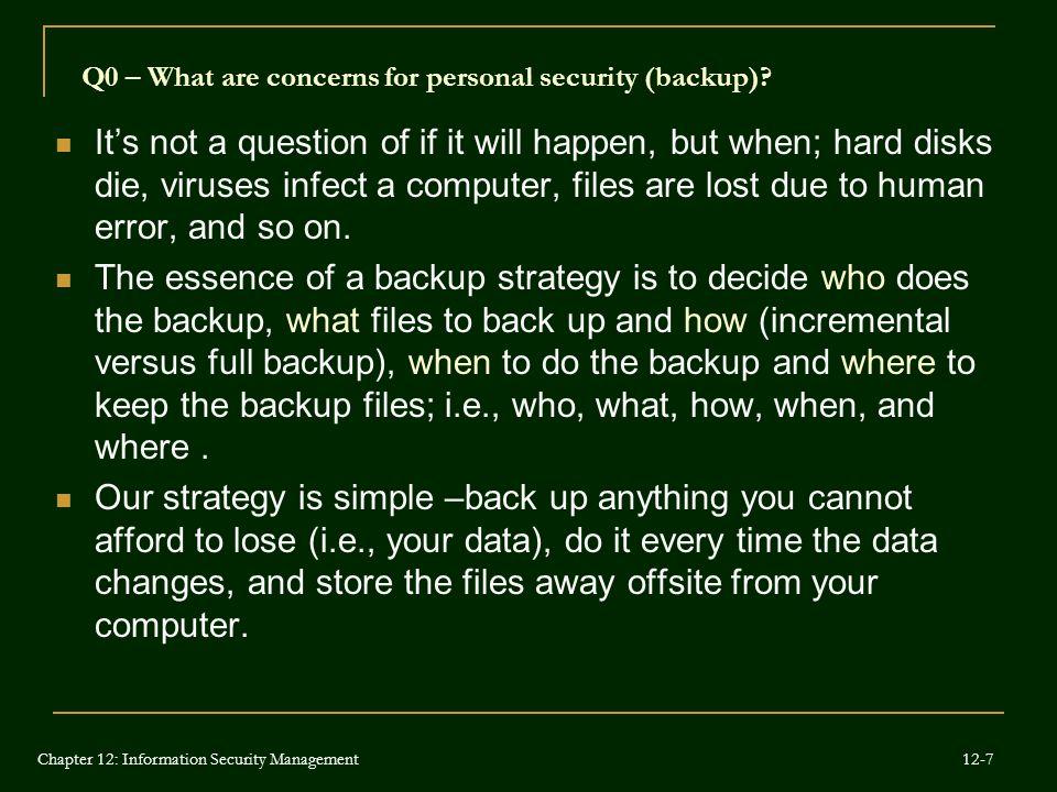 Q0 – What are concerns for personal security (backup)