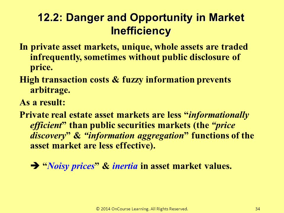 12.2: Danger and Opportunity in Market Inefficiency