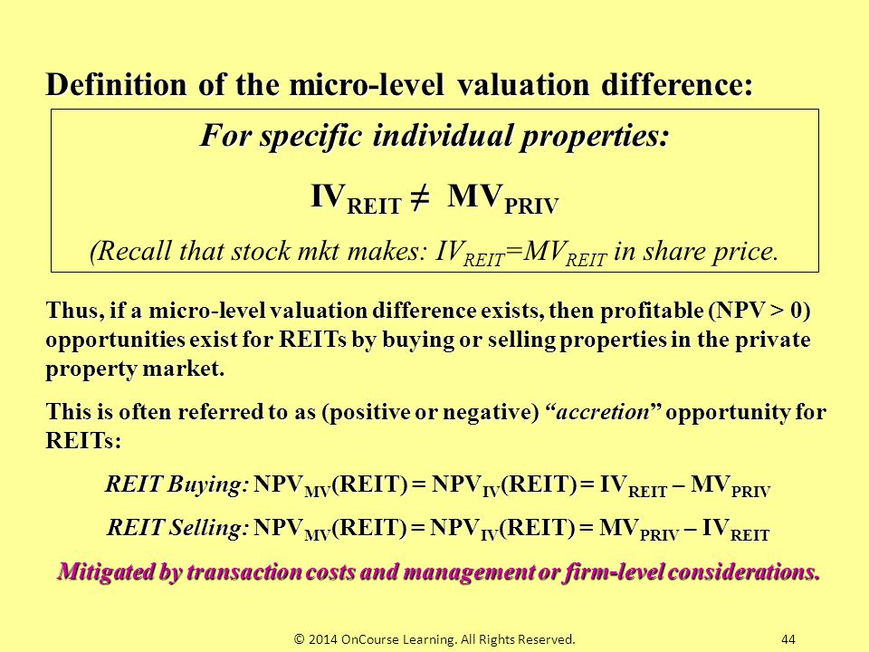 For specific individual properties: IVREIT ≠ MVPRIV