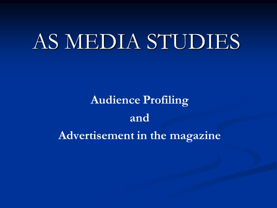 Audience Profiling and Advertisement in the magazine