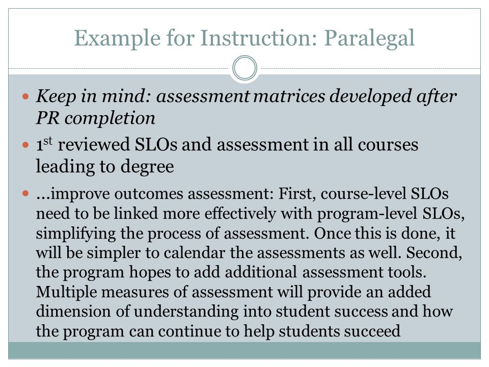 Example for Instruction: Paralegal