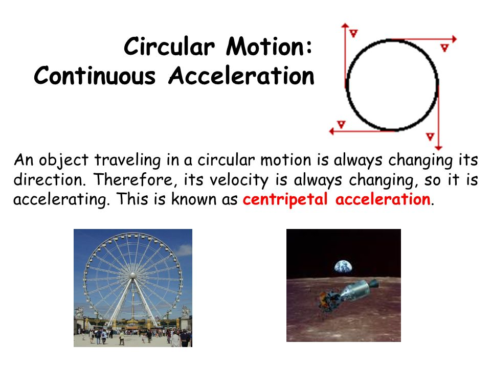 Circular Motion: Continuous Acceleration