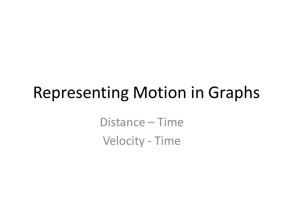 Representing Motion in Graphs