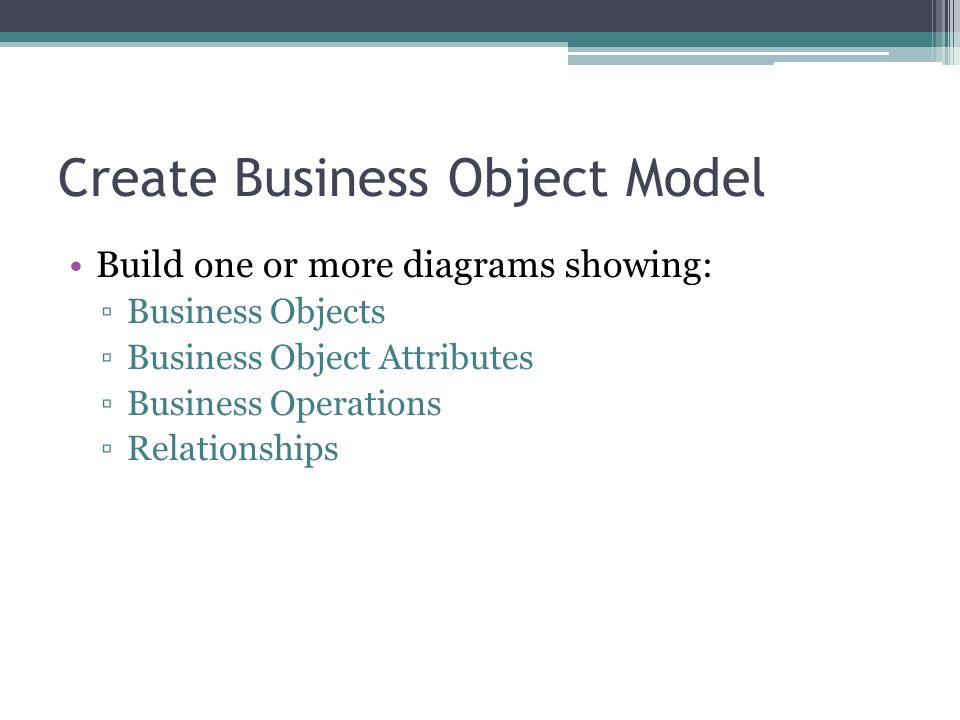 Create Business Object Model