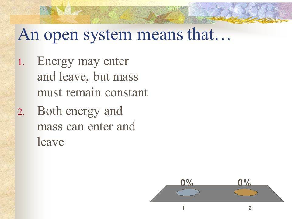 An open system means that…
