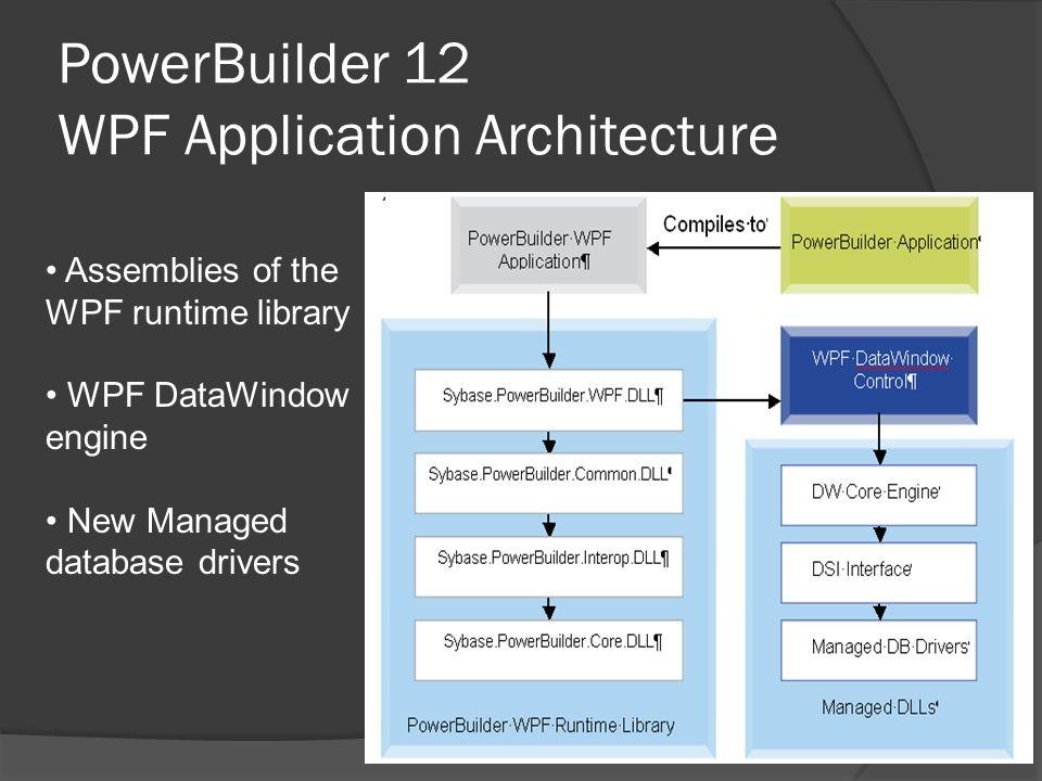 PowerBuilder 12 WPF Application Architecture