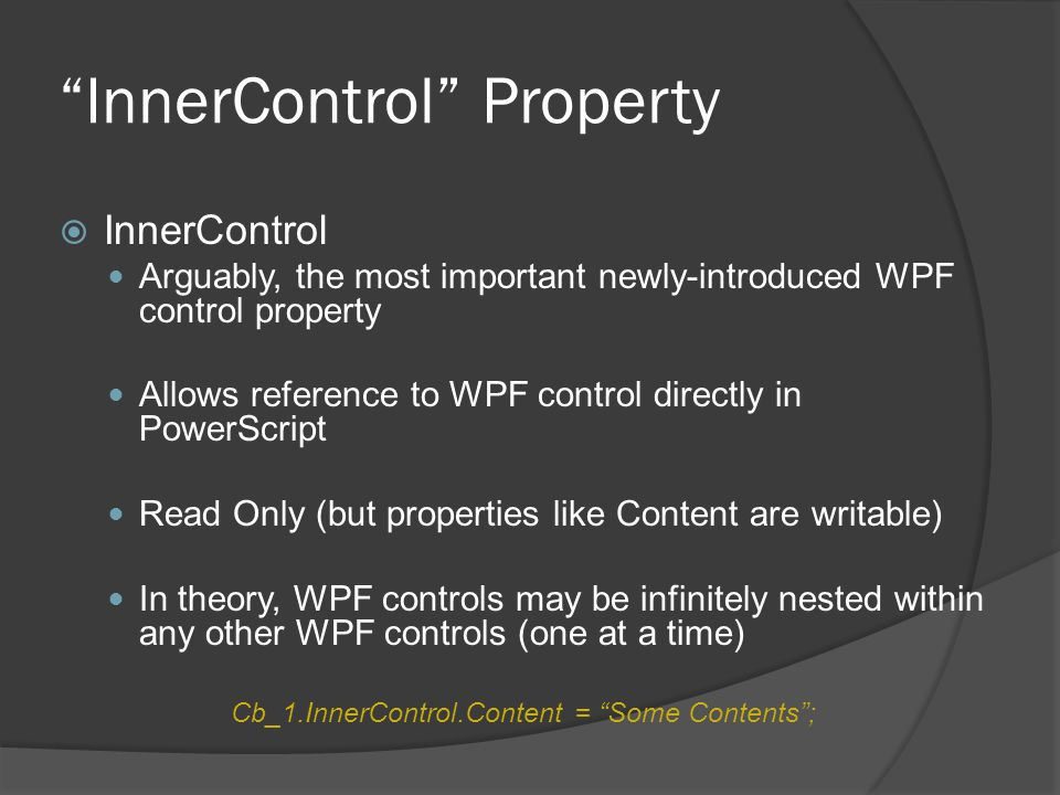 InnerControl Property