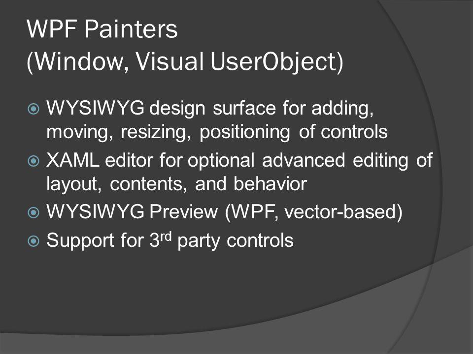 WPF Painters (Window, Visual UserObject)