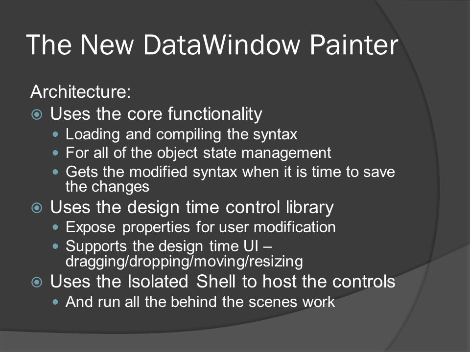 The New DataWindow Painter