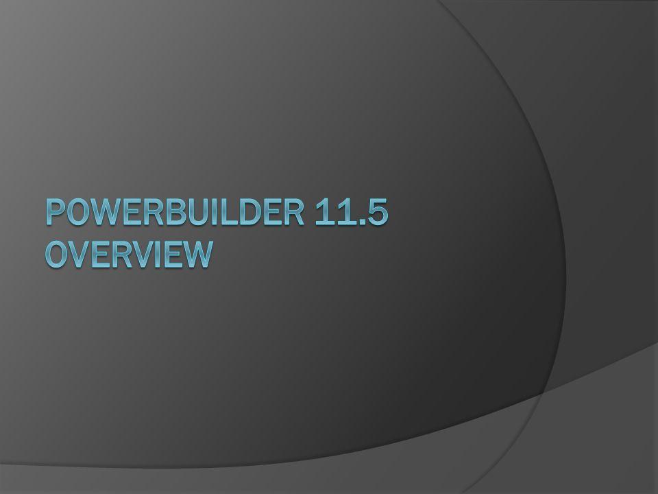 PowerBuilder 11.5 Overview