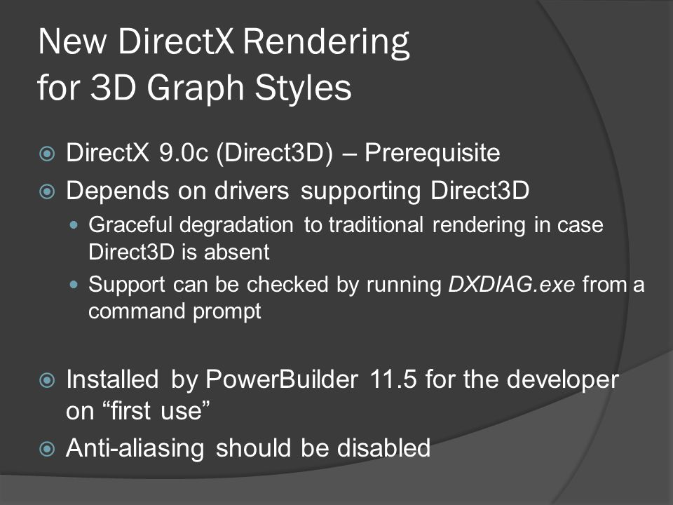 New DirectX Rendering for 3D Graph Styles