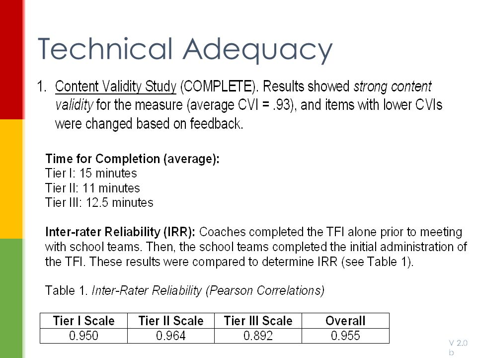 Technical Adequacy