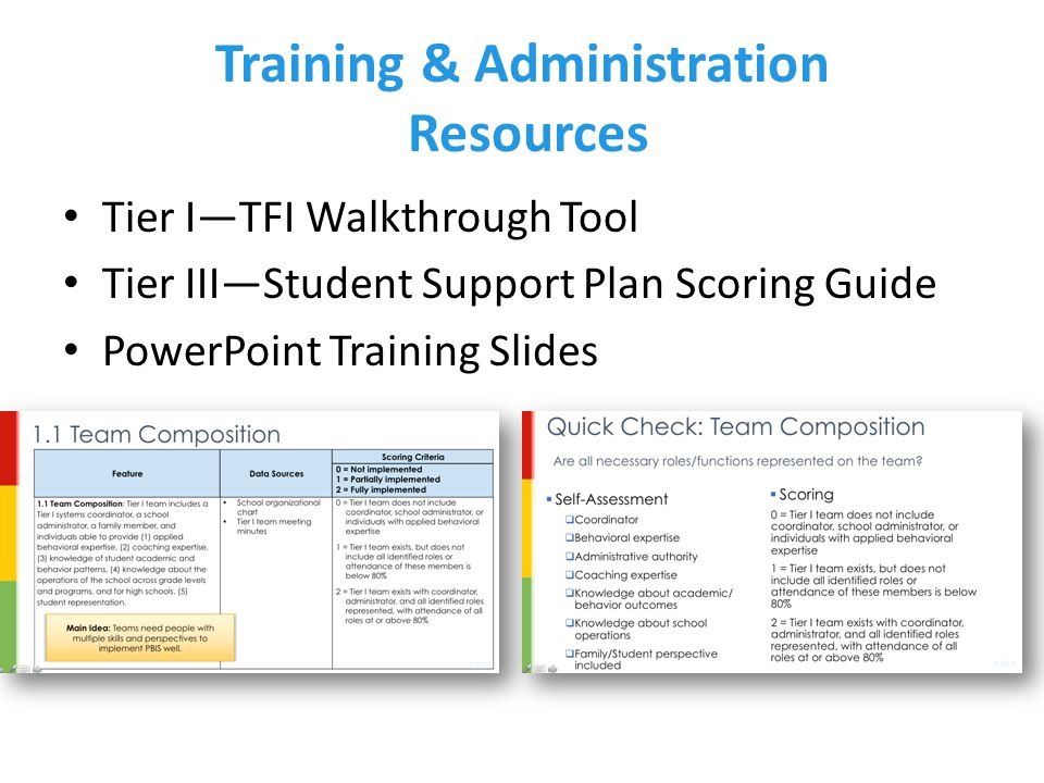 Training & Administration Resources