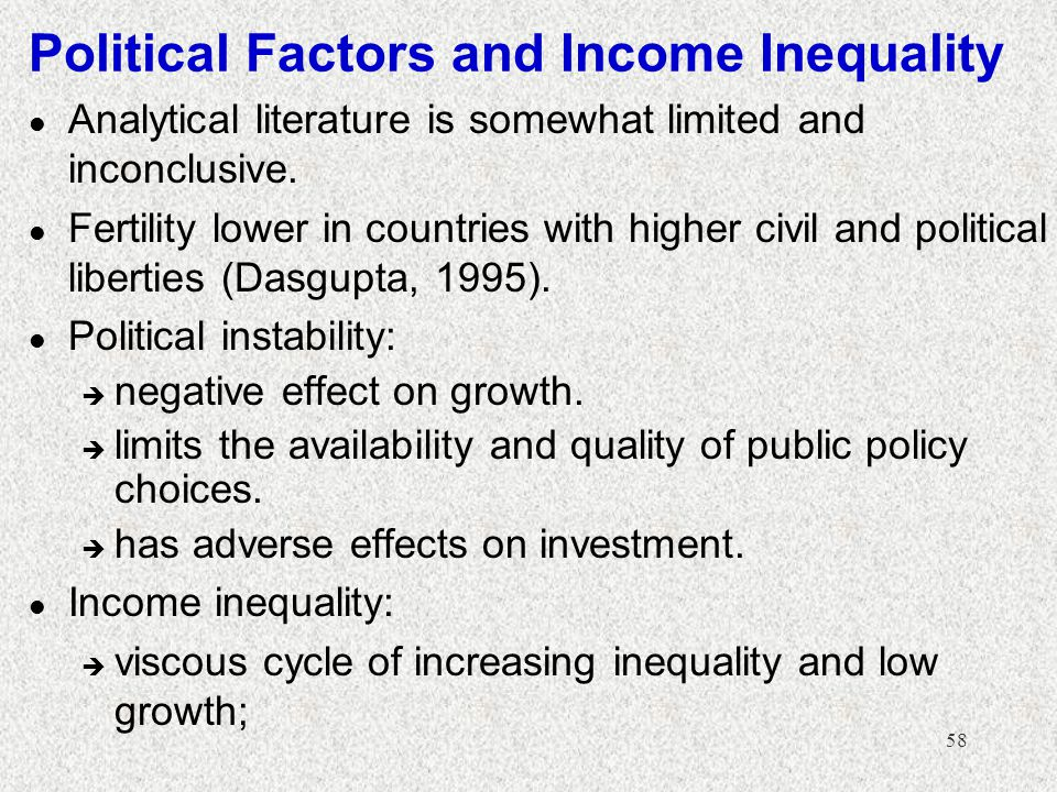 Political Factors and Income Inequality