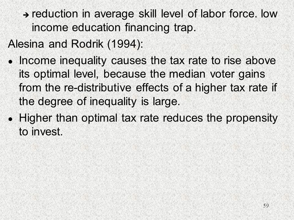 reduction in average skill level of labor force