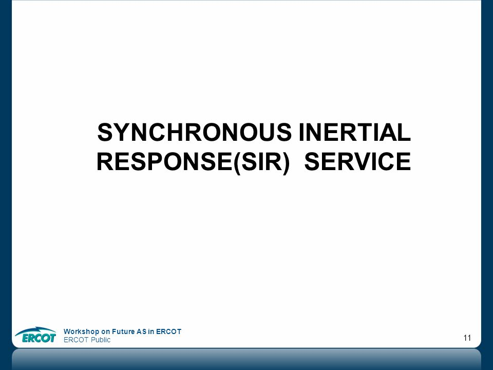 Synchronous InertiaL Response(SIR) service