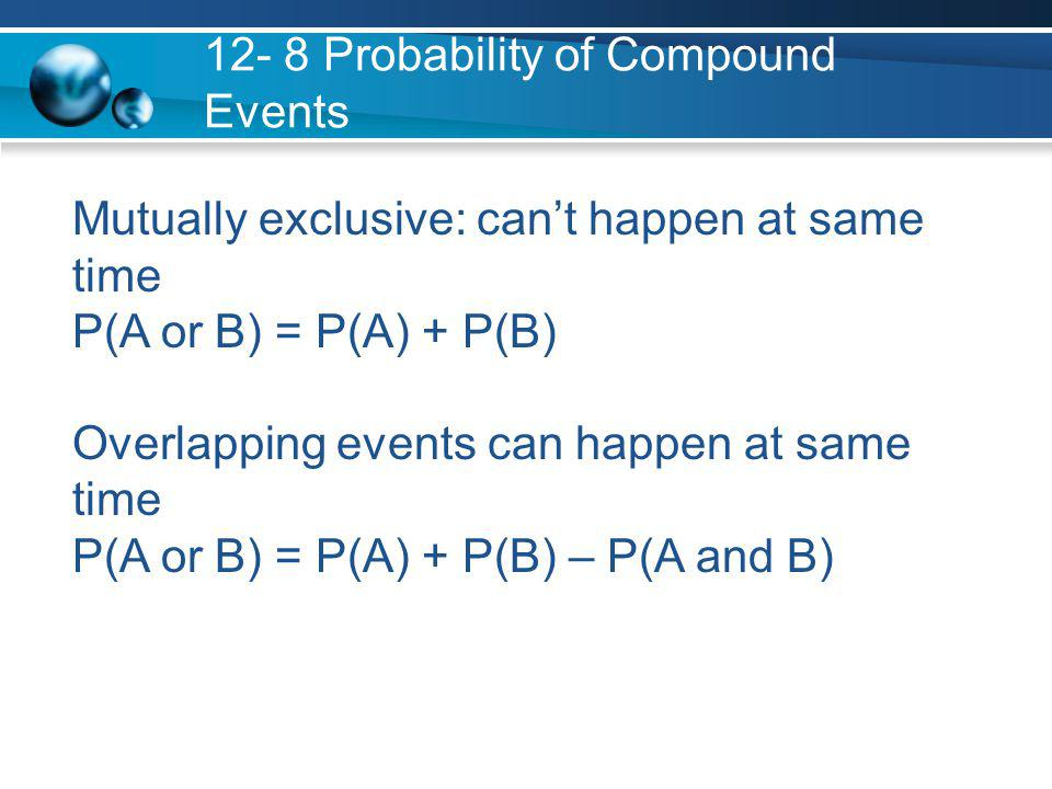 12 8 Probability Of Compound Events Ppt Download