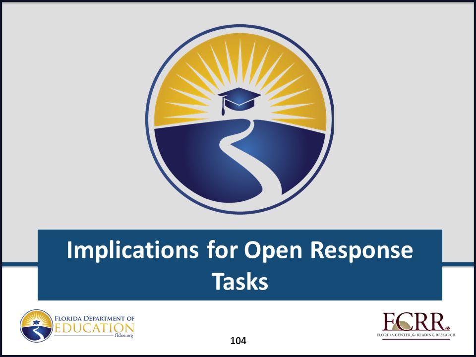 Implications for Open Response Tasks