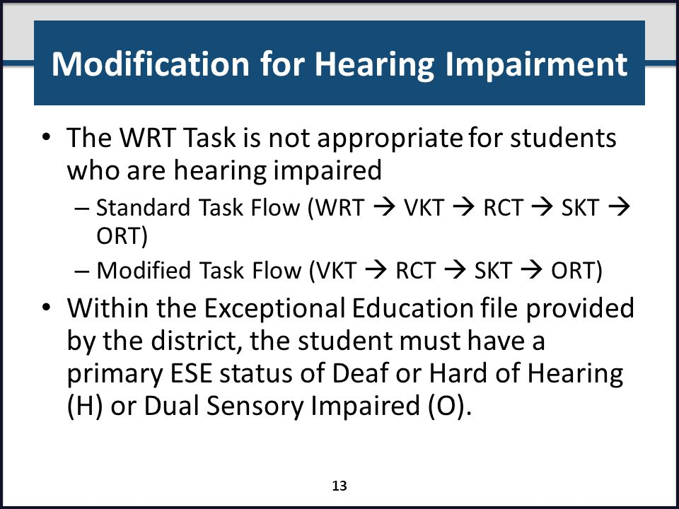 Modification for Hearing Impairment