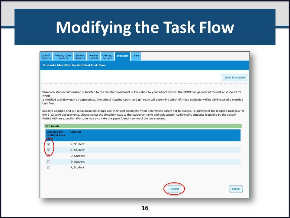 Modifying the Task Flow