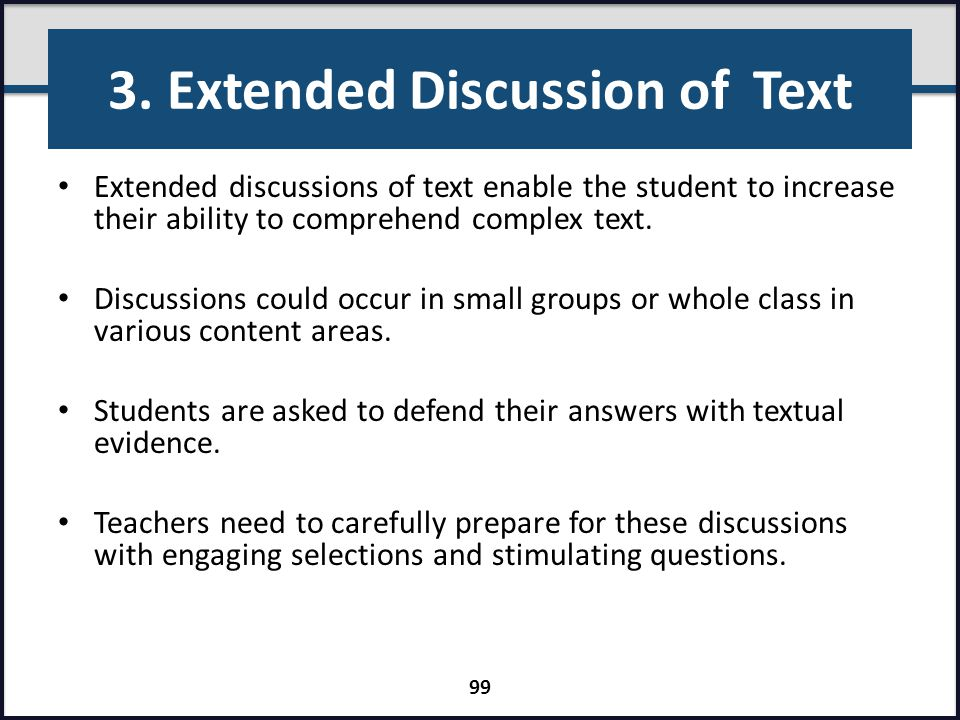 3. Extended Discussion of Text