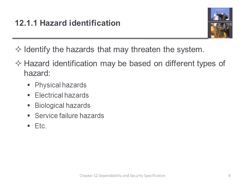 12.1.1 Hazard identification
