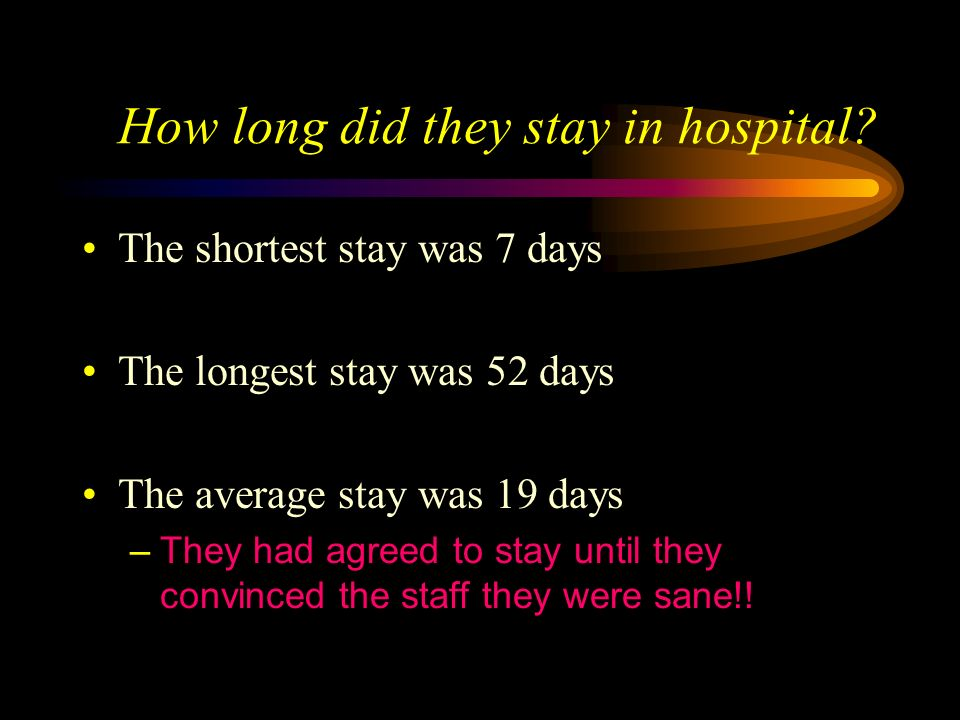 How long did they stay in hospital