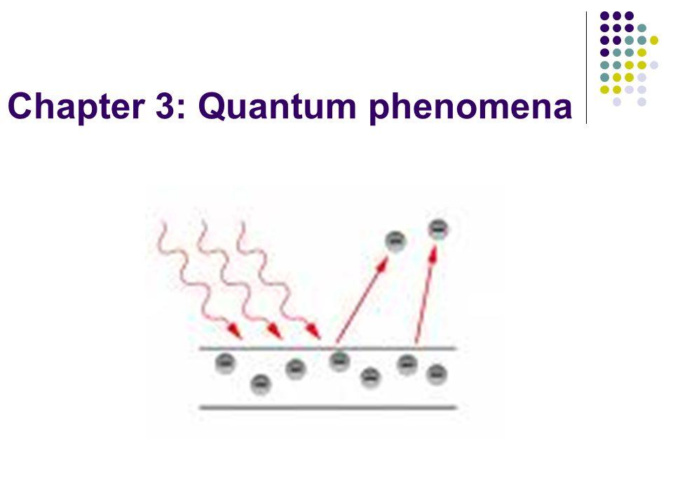 Chapter 3: Quantum phenomena