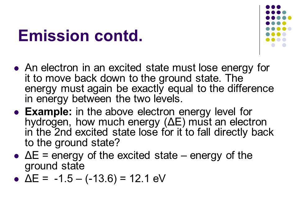 Emission contd.