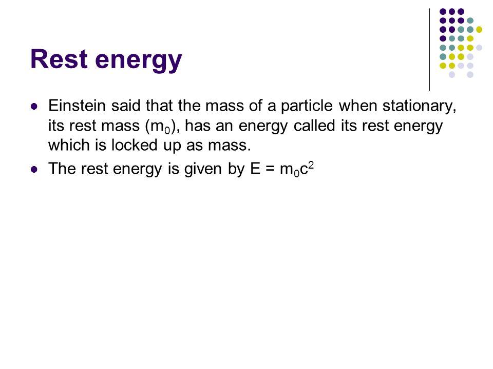 Rest energy