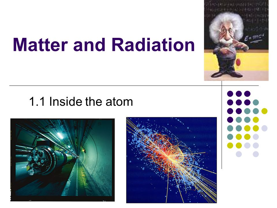 Matter and Radiation 1.1 Inside the atom