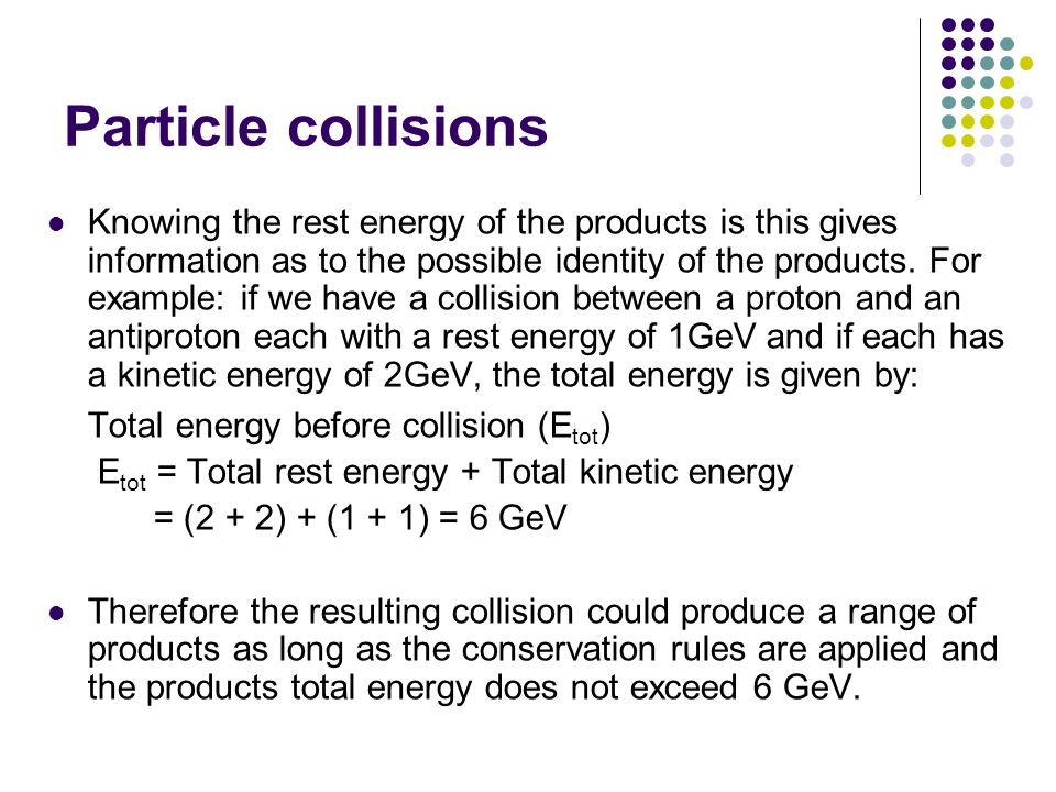 Particle collisions